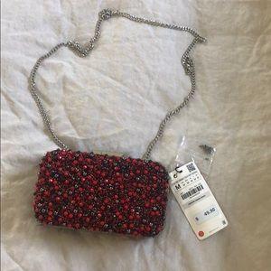 Zara Beaded Red clutch